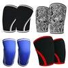 Women Men Teens 7mm Neoprene Solid Colors Weightlifting Knee Pads Compression Squat Gym Crossfit Training Kneepads Custom Logo