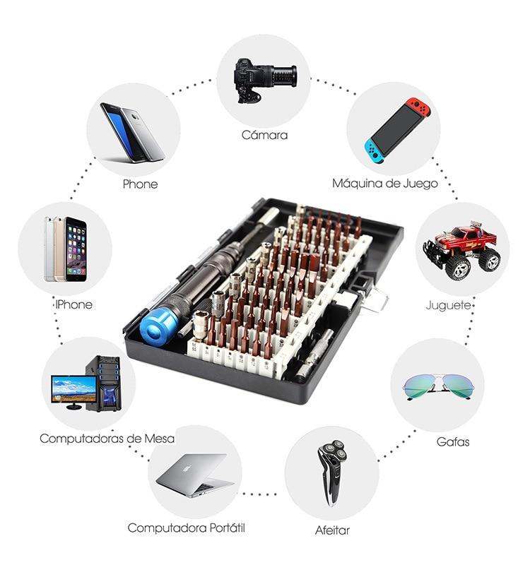 60 in 1 Precision Screwdriver Set S2 Bits Multifuntional Hand Tools Set Computer Mobile phone Repair Tool HRC58 Screw Driver in Screwdriver from Tools