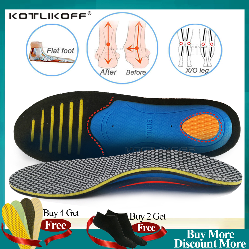 KOTLIKOFF Orthopedic Shoes Sole Insoles Flat Feet Arch support Unisex EVA Orthotic Arch Support Sport Shoe Pad Insert Cushion