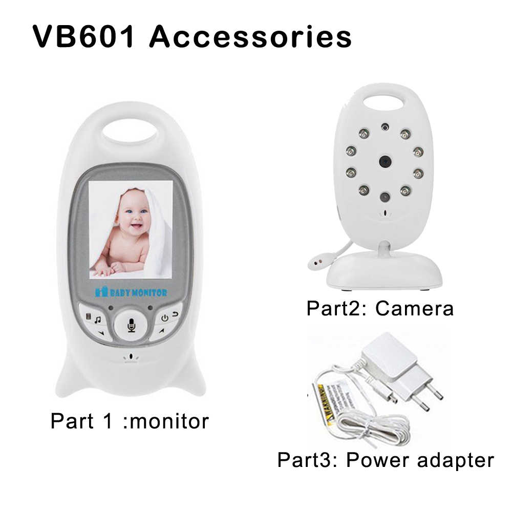 VB601 Baby Monitor Accessories:2.0Inch LCD Screen Baby Monitor Camera Power Adapter Cable For Security Wireless 2.4Ghz Easy Pair