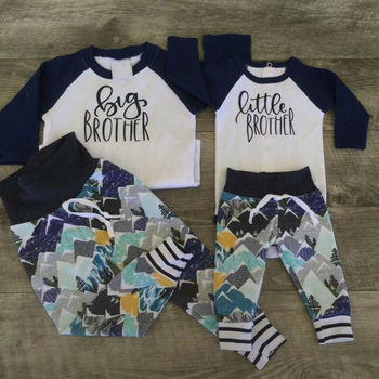 Conjunto a juego para la familia, Conjunto de camiseta para bebé y niño pequeño y hermano mayor, conjunto de trajes y pantalones