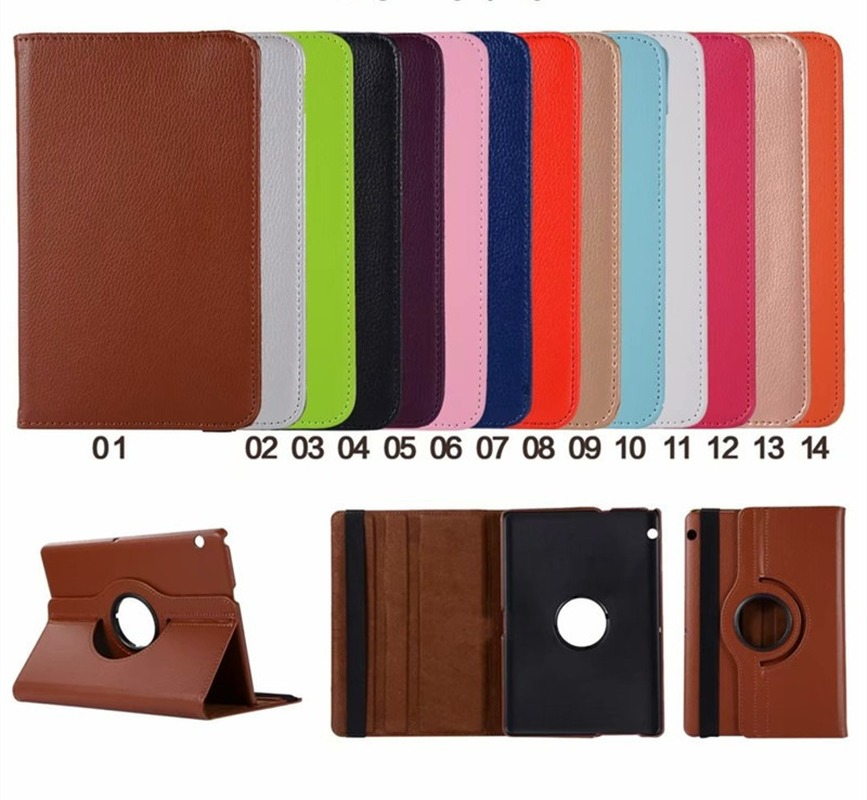MediaPad T5 360 Rotating Flip Stand Leather Flip Cover For Huawei MediaPad T5 10 AGS2-W09/L09/L03/10.1inch Tablet Case+Film+Pen