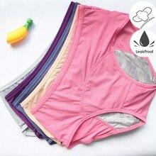 3 adet/takım sızdırmaz Menstrual külot fizyolojik külot kadın iç çamaşırı dönemi pamuk su geçirmez külot Dropshipping HP21