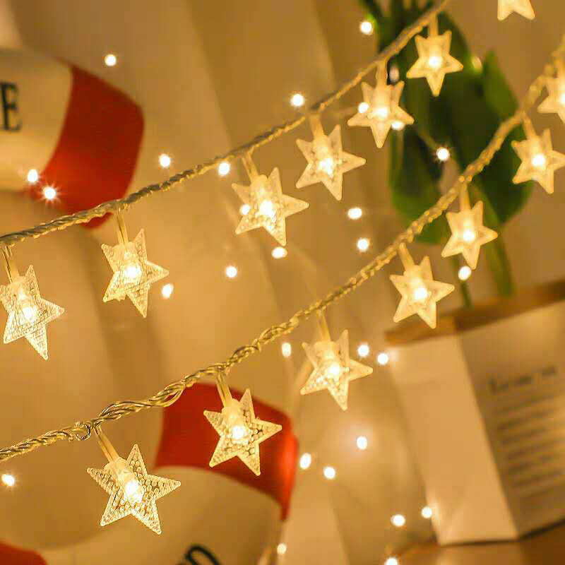 10/20/40 LED Star Light String Twinkle Garlands Battery Powered Fairy Lights Lamp For Christmas Party Wedding Gift Decoration
