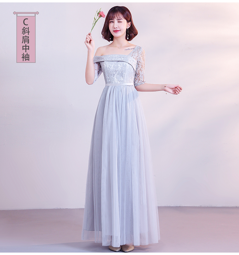 Maid Of Honor Dress For Weddings Vestido Azul Marino Tulle Bridesmaid Dress Elegant Gray Pink Simple Sister Dress Sexy Prom Club