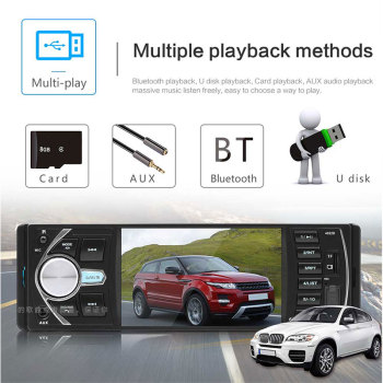 Multimedia Player USB AUX 4.1 Inch Bluetooth DC12V Car MP5 Automotive Car MP5 Player Support SD Card FM Radio image