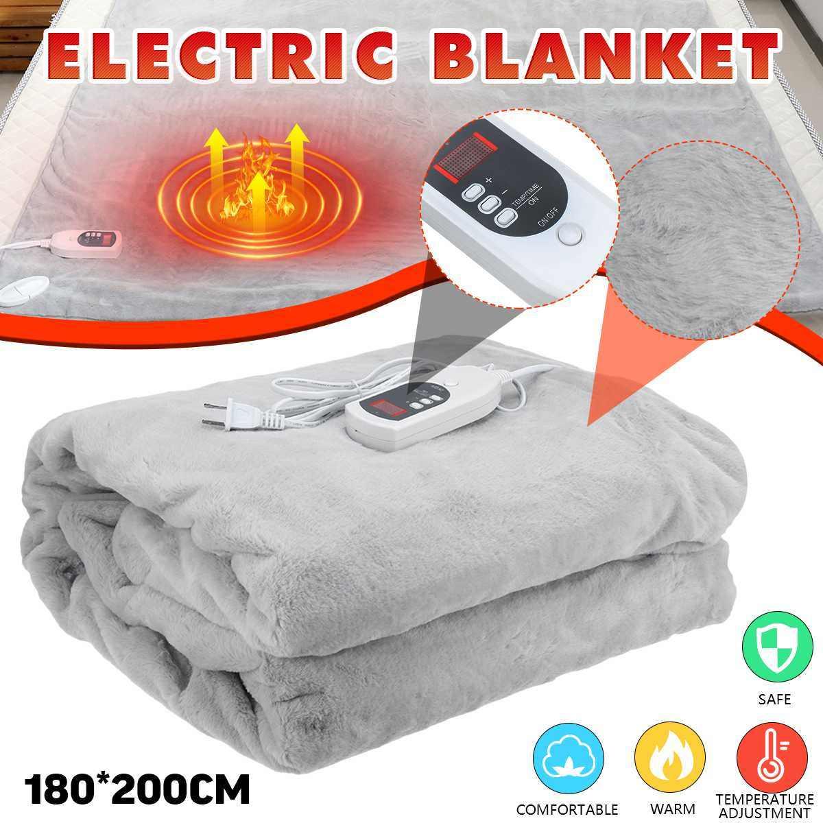 100//150W Electric Heated Under Blanket Heating Pad Winter Warmer 2 Gears