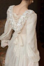 Doce laço vestido de fadas para senhora magro do vintage mori menina alargamento manga retro princesa roupas femininas vestido de mujer elegantes