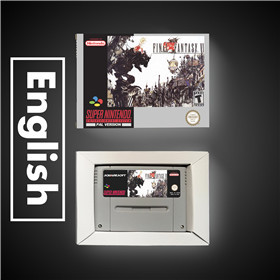 Final Game Fantasy VI 6   EUR Version RPG Game Card Battery Save With Retail Box