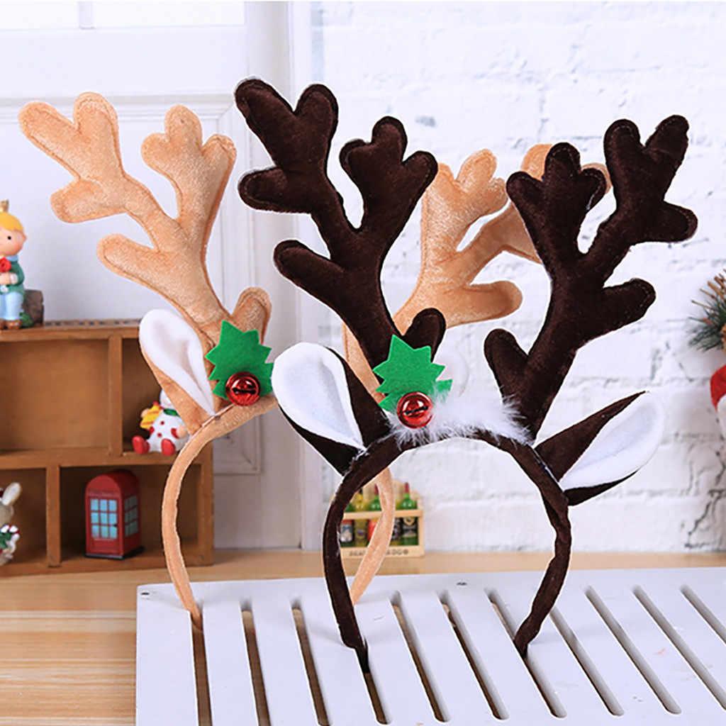 1pcs חג המולד בגימור לילדים למבוגרים חג המולד אוזני צבי חג המולד מסיבת עסקות סנטה חג המולד להקת שיער אבזם בארה 'ב