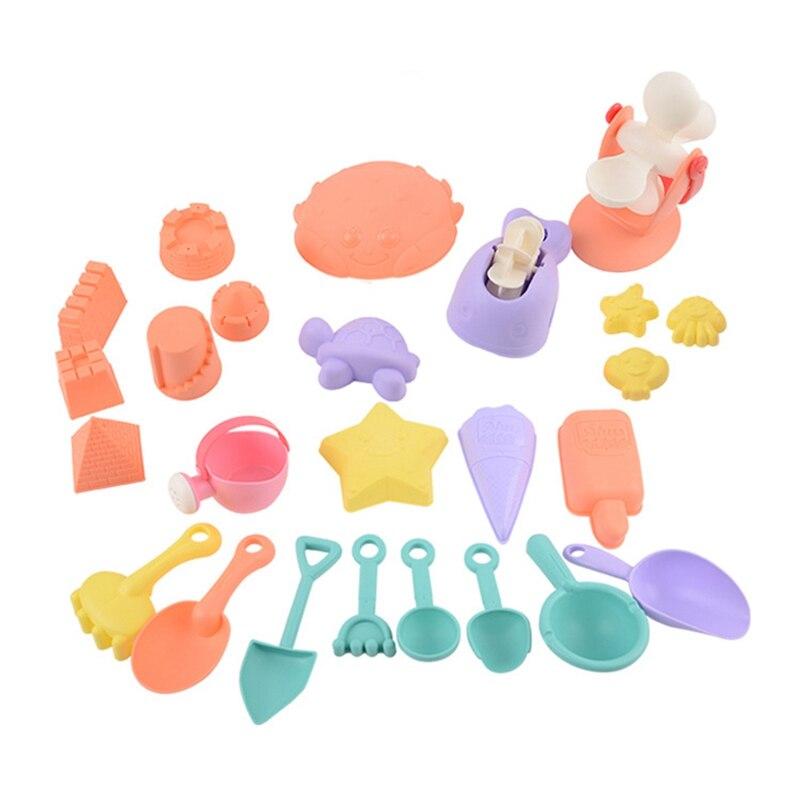 Soft Plastic Beach Children'S Toys Summer Outdoor Parent-Child Digging Sand Play Tool Set