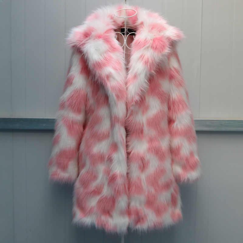 נשים של מעיל חיקוי שועל פרווה נשים של פרווה מעיל 2019 חדש אופנה גדול גודל חם באיכות גבוהה נשים של פרווה מעיל NUW649