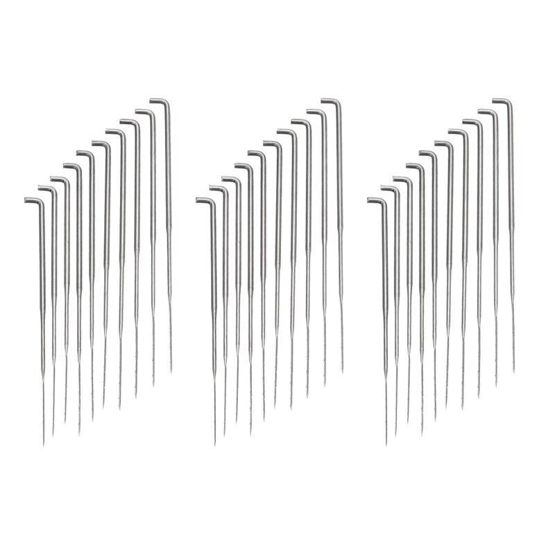 30Pieces Felt Craft 3 Sizes 75-90mm Felting Needles Wool Felt Pcked Needles Set Hand Craft Needle Felting DIY Tool