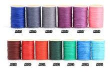 25 cor 0.45/0.55/0.65mm couro artesanato diy mão costura cera linha couro multi-strand tecido redondo cera linha couro artesanato