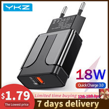 YKZ Handy Ladegerät Quick Charge QC 3,0 4,0 18W Schnelle Lade EU UNS Stecker Adapter Wand USB Ladegerät für iPhone Samsung Xiaomi