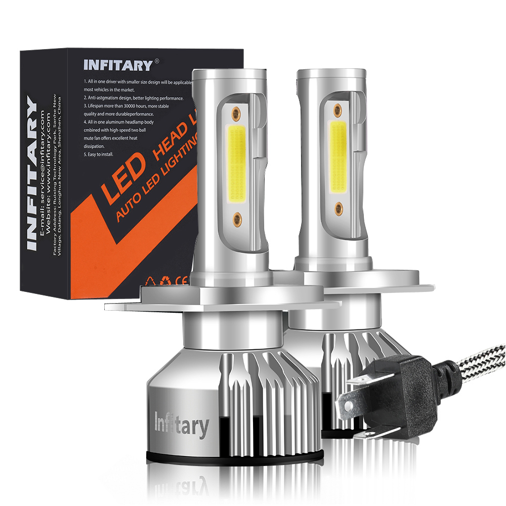 Hillpow <font><b>H4</b></font> <font><b>LED</b></font> H7 H11 H8 HB4 H1 H3 HB3 Auto Car Headlight Bulbs 72W <font><b>10000LM</b></font> Car Styling 3000K 4300K 6000K <font><b>led</b></font> automotivo image