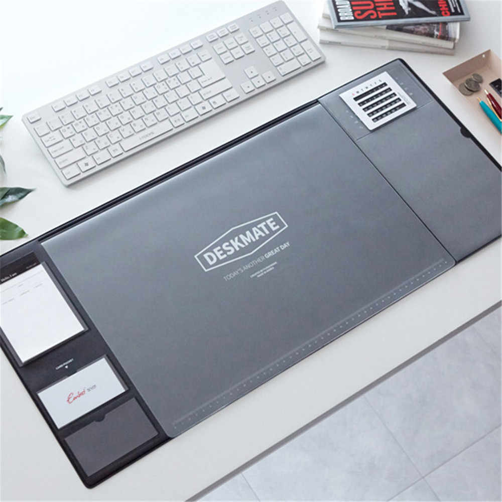 Pcv Laptop poduszka jednokolorowa wielkoformatowa mata na biurko do komputera z kalendarzem wodoodporna podkładka pod mysz organizator biurowy biurko