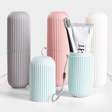 Viagem portátil escova de dentes pasta de dentes caixa de armazenamento organizador de armazenamento doméstico escova de dente copo do banheiro accessorie