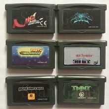 32 bit eua handheld console de vídeo game cartucho cartão surpreendente espelho/brilhante alma/festa/106 in1 versão a primeira coleção