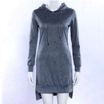 European and American style mid-length hoodie 2020 women's pullover long-sleeved fleece hoodie 8