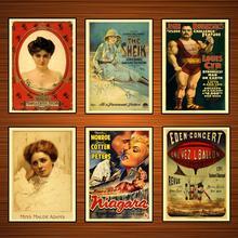 Cartel de circo de espectáculo Vintage Eden-Concierto, enl'vez l'ballon pinturas clásicas en lienzo pósteres de pared pegatinas decoración del hogar regalo
