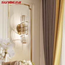 Modern Led Wall Lamps For Bedroom Bathroom Mirror Light Crystal Gold Lighting Nordic Living room applique murale luminaire