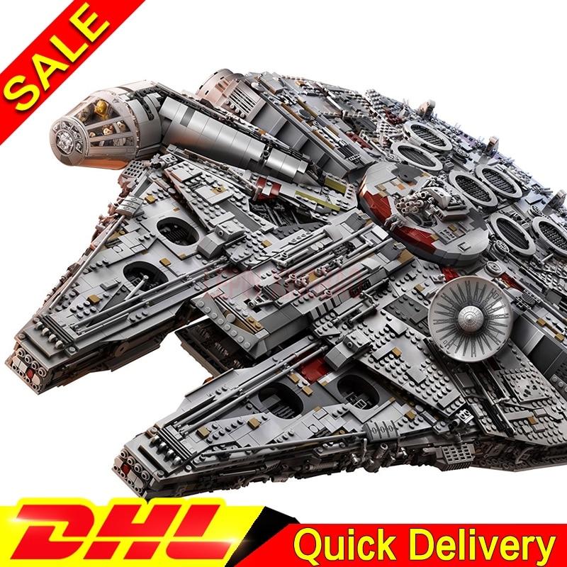 Em Estoque DHL grátis LP 05132 8445PCS Os Novos 75192 Destruidor do Coletor Final Conjunto de Blocos de Construção Tijolos Presente brinquedos do miúdo