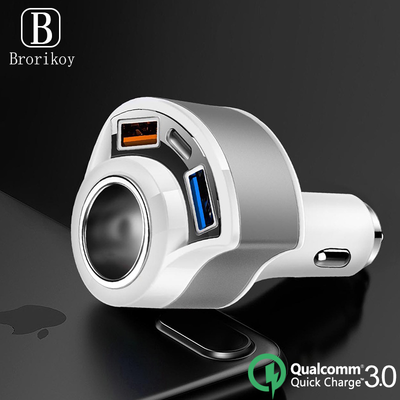 QC3.0 Fast <font><b>Chargers</b></font> <font><b>Car</b></font> Charging for iPhone 11 Pro Xs 8 <font><b>Samsung</b></font> S20 Huawei Mobile Phone <font><b>Type</b></font>-<font><b>C</b></font> PD <font><b>USB</b></font>-<font><b>C</b></font> Auto Quick Charge 3.0 image