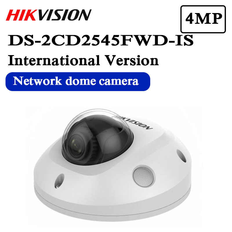 Envío Gratis hikvision versión en inglés DS-2CD2545FWD-IS reemplazar DS-2CD2542FWD-IS H.265 4MP IR Fixed Mini Dome cámara de red