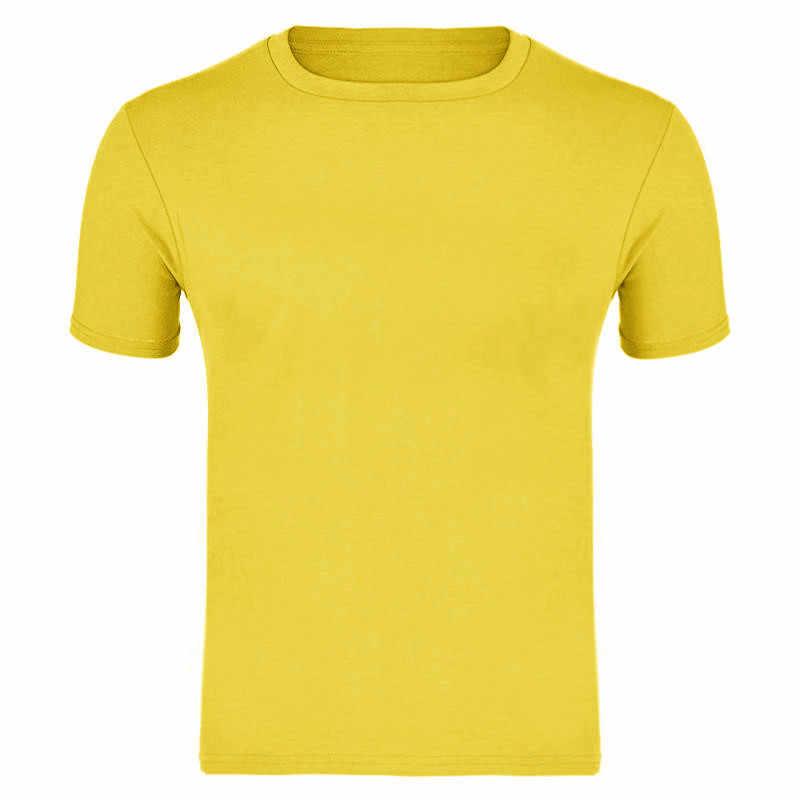 2019 Moda de Alta Qualidade Dos Homens T Camisas de Manga Curta Casuais T-shirt Dos Homens Sólidos Casual Algodão Camiseta Verão Roupas S-XXXL