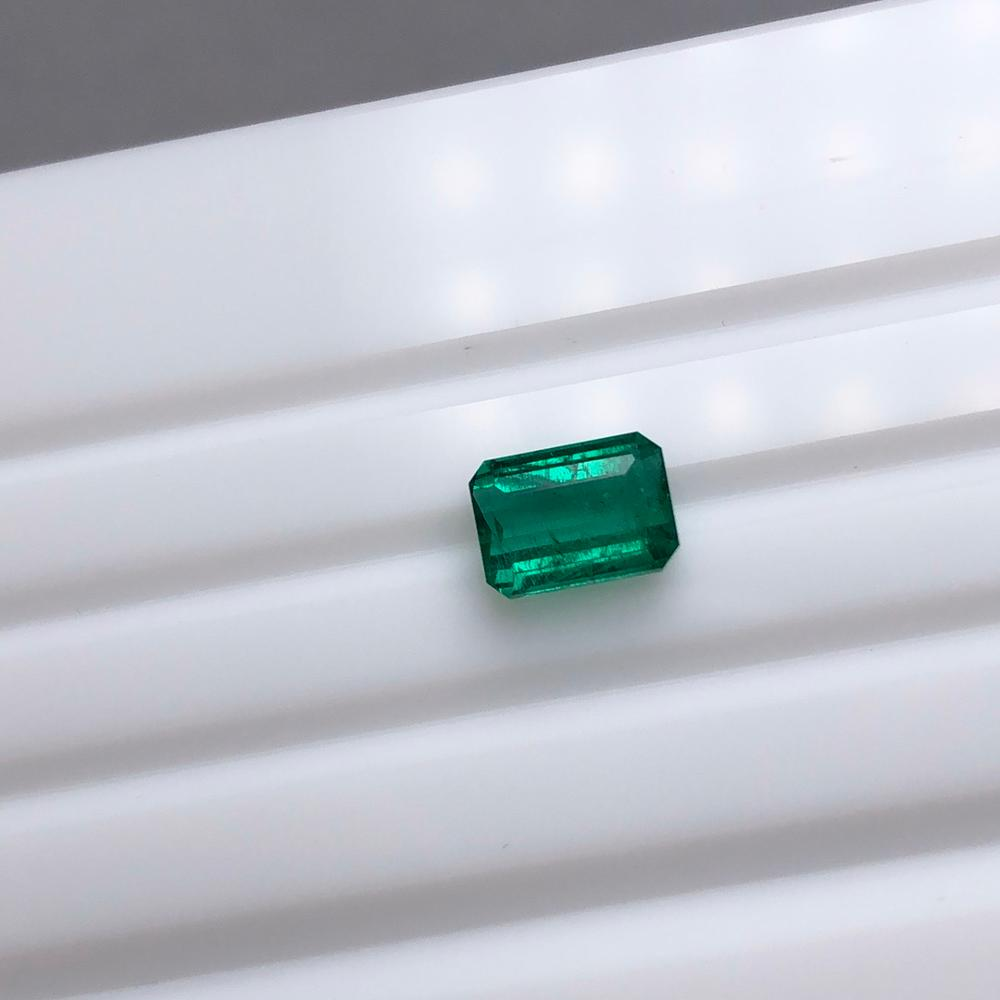 YZM206#20X 7.86x5.69x4.0 1.51ct natural Zambia emerald loose gemstone for ring making