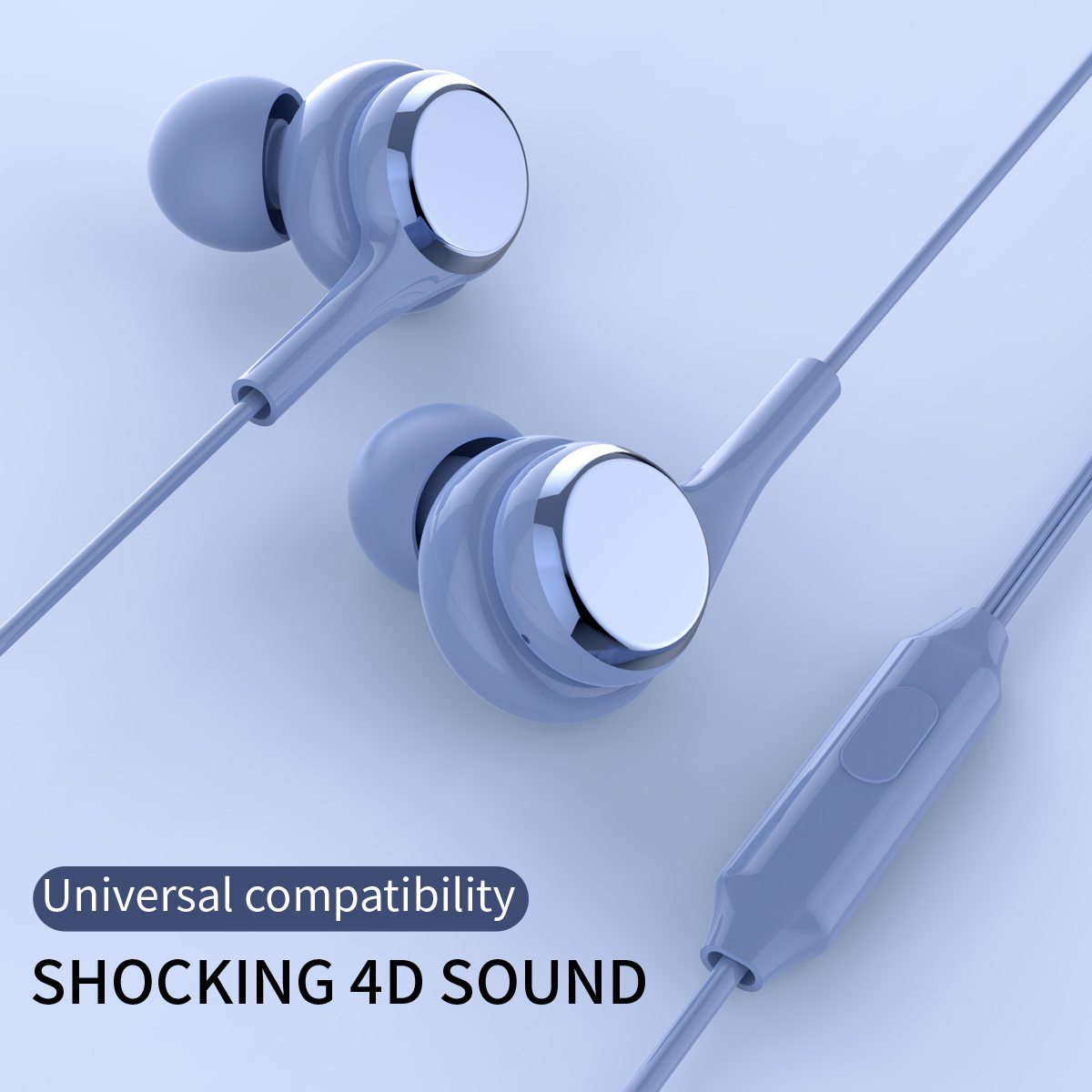 Cheap 3.5mm Earphones Stereo Audio Jack Cable Stereo Music Headset For Mobile Phone Universal Wired In Ear Earphone With MIC