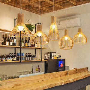 Sam Black Wood Pendant Light Modern Chinese Style Pendant Lamp Restaurant Light Living Room Decoration Eco Friendly Lighting