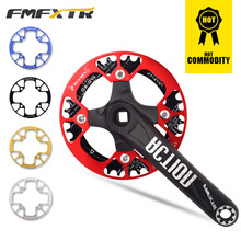 Bicycle Crankset 32T/34T/36T/38T Oval Chainring Narrow Wide MTB Bike Chainwheel Aluminum Alloy Circle Crankset Bicycle Part fouriers mtb cnc bike big oval single chainring pcd bcd 96mm chain ring for shimano xt m8000 bolts narrow wide teeth chainwheel