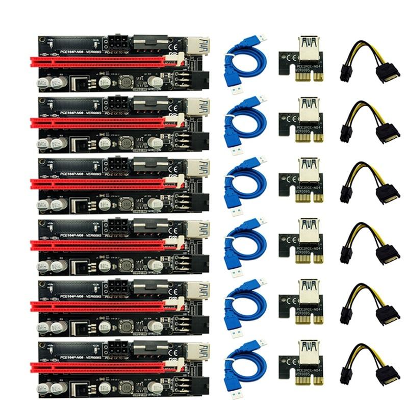 Riser-Adapter-Card Power-Cable 8x16x-Extender Pci-E Sata Usb-3.0 Express Ver009 009S