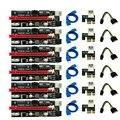 6 шт. новые Ver009 Usb 3,0 Pci-E Ver 009S Экспресс 1X 4X 8X 16X расширитель Riser карта адаптера Sata 15Pin до 6 Pin Мощность кабель
