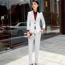 Women Pants Suit Women's Blazer Jacket and Slim Pencil Pant 2 Pieces Se