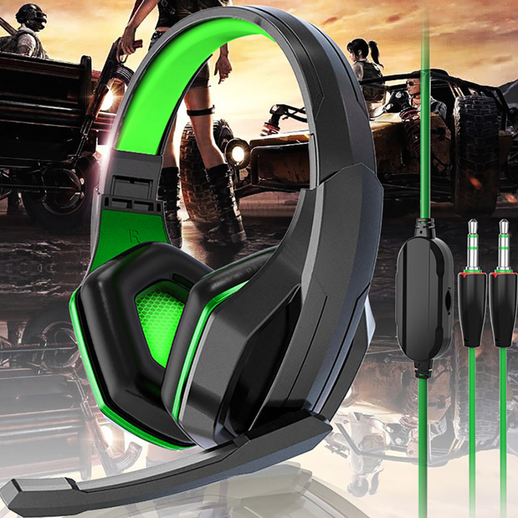 Gaming Headset Headphones 3.5mm Over-Ear Foldable Stereo Headphone Microphone For NS switch For PS4 #D2
