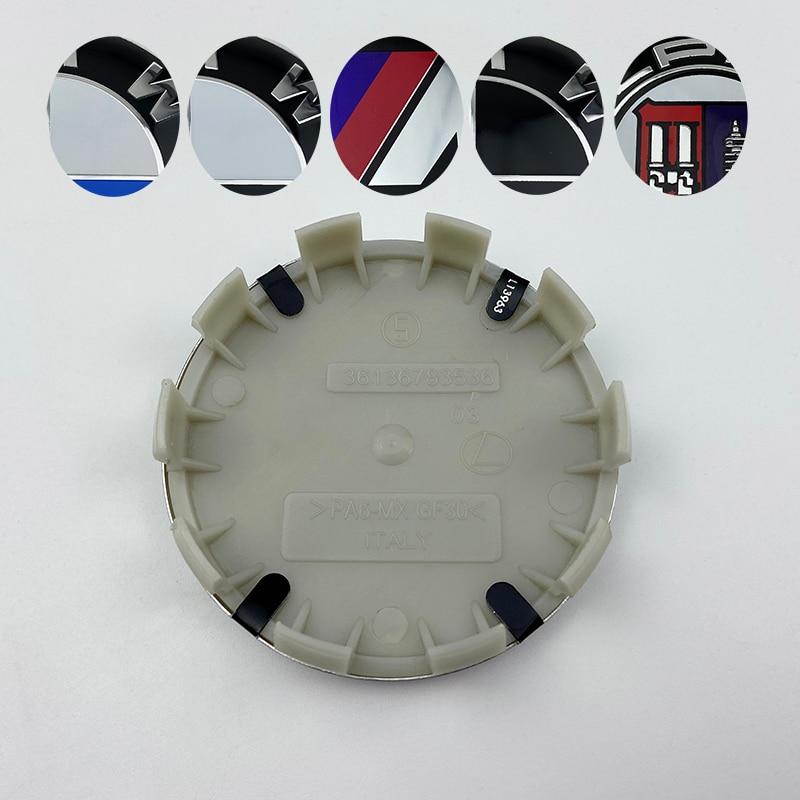 100 шт. 56 мм 68 мм Автомобильная черная/белая крышка ступицы колеса крышка значок эмблема для BMW E46 E39 E38 E90 E60 E36 F30 F30 E34 F10 E92 E38