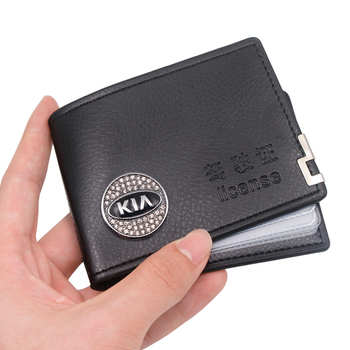 Retro Style Leather Cover Car Driving Documents Card Credit Holder Wallet Case For KIA rio ceed sportage sorento k2 k3 k4 k5 k6 fiber leather car seat backrest anti kick pad leather anti dirty mat back anti kick cover for kia k2 k3 k5 rio sportage ceed