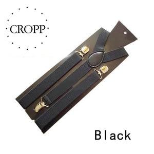 2.5 cm Adult Suspender Belt Vintage Men Suspender Shirt Stay Fashion Solid Color Braces Casual 3 Clips British Style Accessories