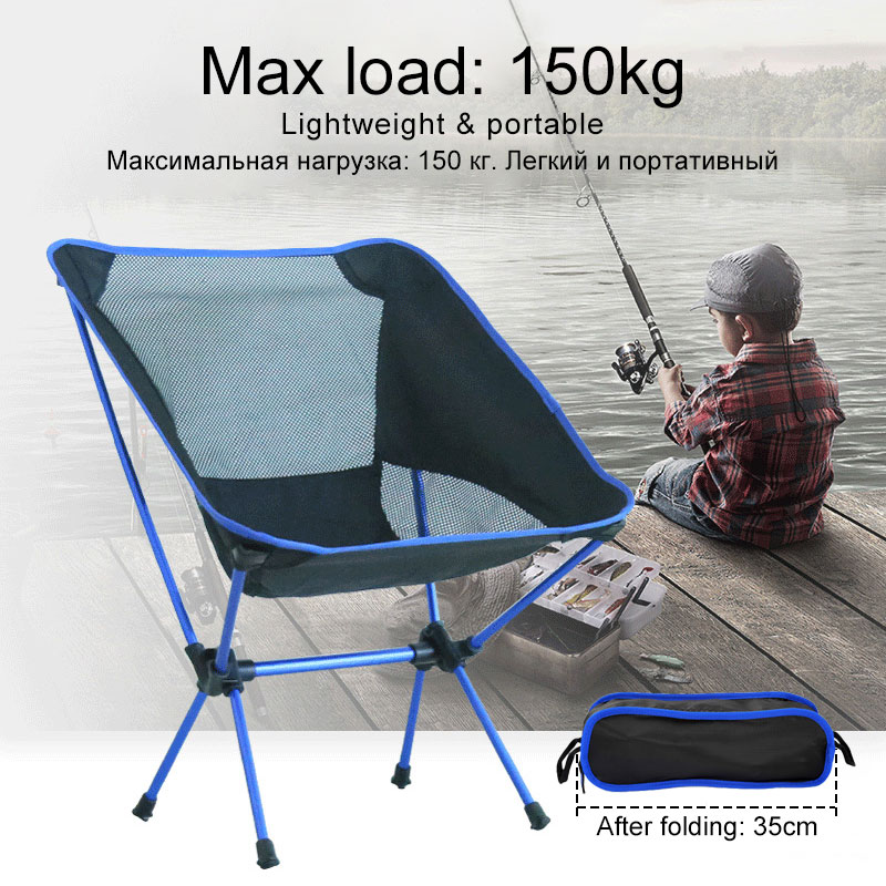 Outdoor Portable Furniture Compact Folding Camping Beach Chair Lightweight Breathable Comfortable Family Hiking Fishing Chairs