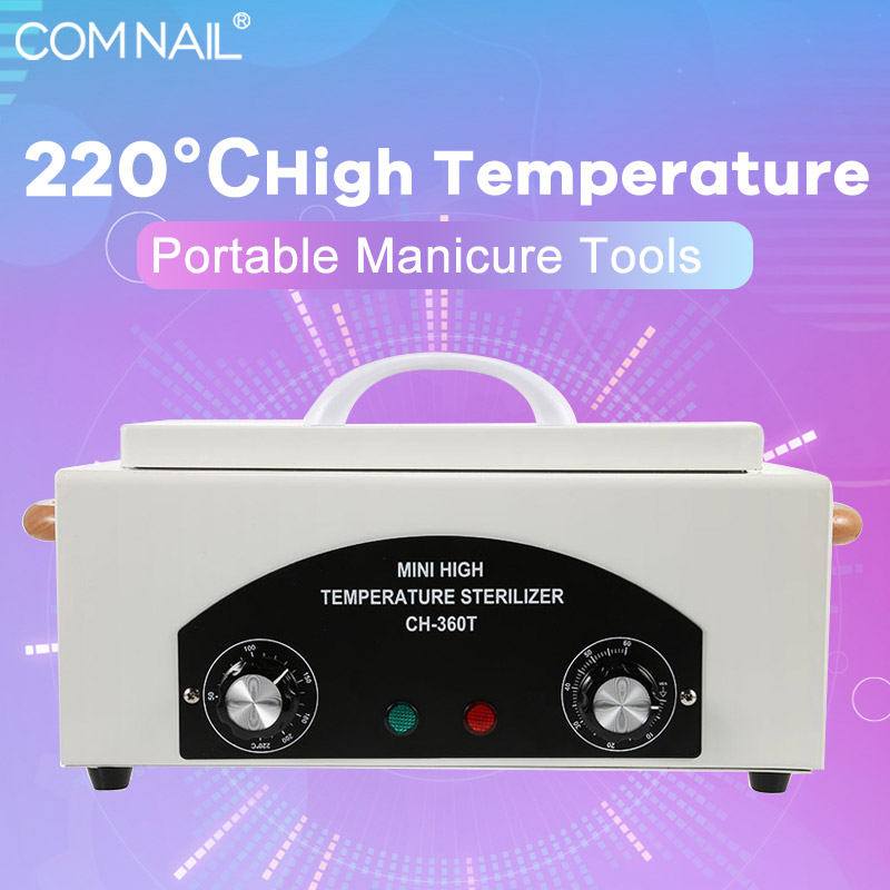 300W Dry Heat High Temperature UV Sterilizer Box Nail Art Tool Sterilizer Box Hot Air Disinfection Cabinet Ship From RU Stock