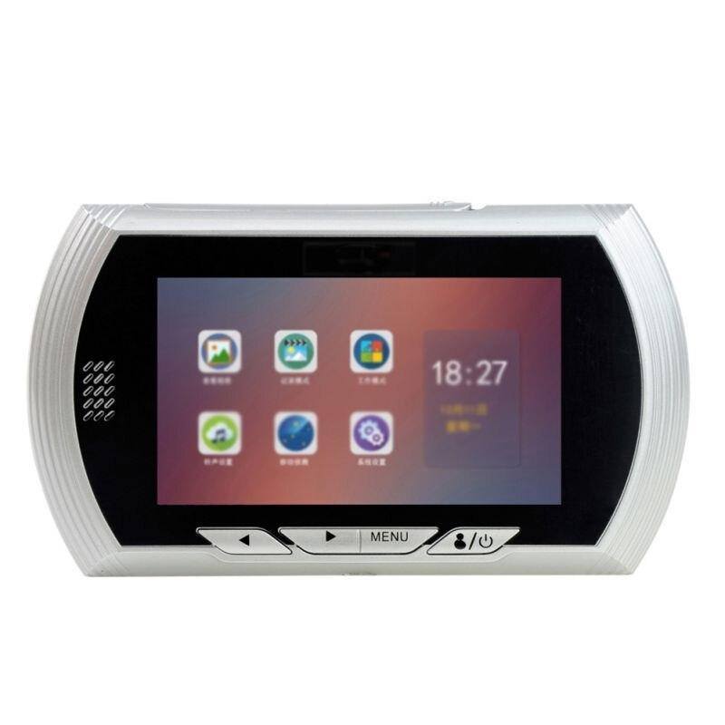 Digital Door Viewer Doorbell IPS Security Camera Monitor Night Vision Motion Sensor Photo Video Cam 3500mAh Rechargeable Battery
