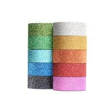 Ruban de décoration holographique à paillettes, 5 pièces, 5m, matériel de gymnastique, accessoire en plastique