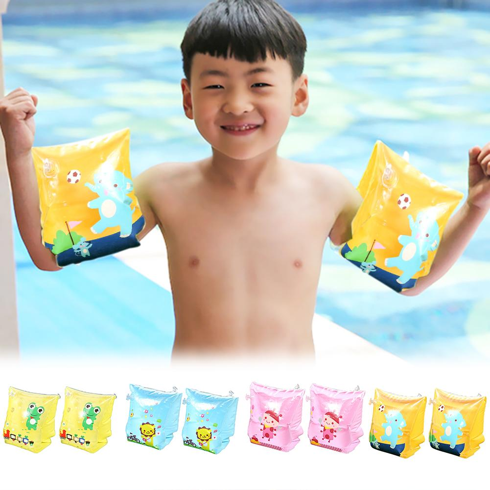 Infants Baby Cartoon Arm Circle Arm Swimming Ring Inflatable Swim Pool Floats Arm Circle Safety Arm Sleeve Water Sports