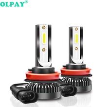 OLPAY 2Pcs H7 LED mini Car headlight Bulbs H4 H1 H11 H8  Headlamps Kit 9005 HB3 9006 HB4 Auto 12-24V Lamps 100W 12000LM