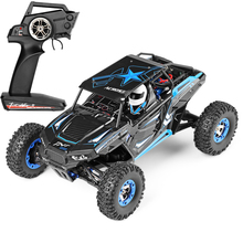 цена на RC Car 10428-B 1/10 2.4G 2CH 4WD 30km/h Electric Rock Brushed Off-road Crawler w/ LED Lights RTR RC Climbing Car