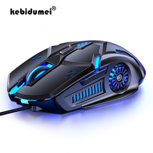 Gaming Mouse Laptop Backlight Mice Wired 6-Button RGB USB for PUBG Computer PC 4-Speed