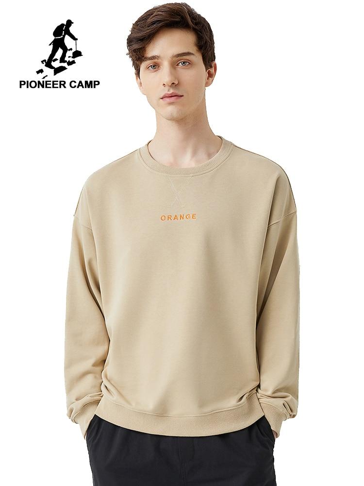 Pioneer Camp 2020 Fashion Khaki Black Men's Hoodies Sweatshirts Spring Sportwear Cotton Causal Men's Coats AWY0102036